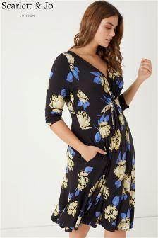 Scarlett & Jo Flower Knot Front Dress