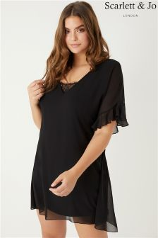 Scarlett & Jo Lace Insert Tunic Dress