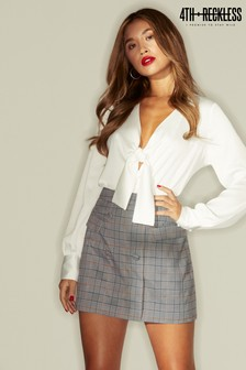 4th & Reckless Button Front Mini Skirt
