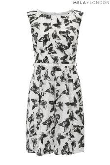 Mela London Butterfly Print Skater Dress