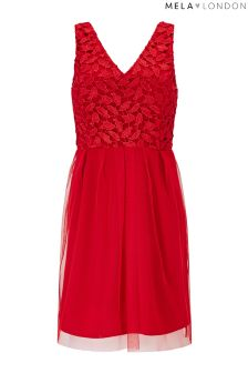 Mela London Netted Contrast Skater Dress