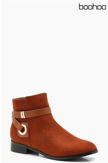 Boohoo Strap Detail Ankle Boots