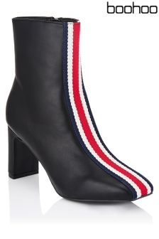 Boohoo Stripe Ankle Boots