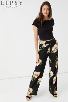 Lipsy Floral Wide Leg Trousers