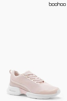 Boohoo Mixed Material Trial Trainers