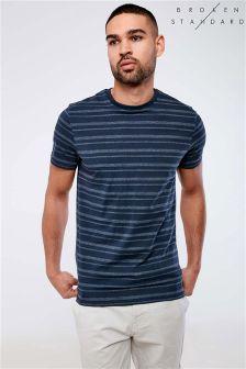 T-shirt Broken Standard à rayures unies et mouchetées