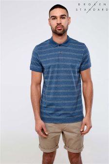 Broken Standard Textured Stripe Polo Shirt