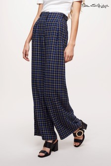 Miss Selfridge Check Wide Leg Trouser