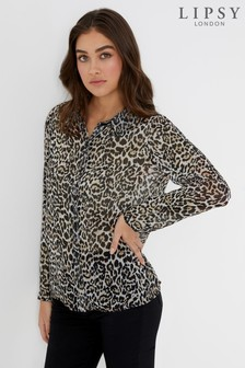 Lipsy Leopard Print Shirt