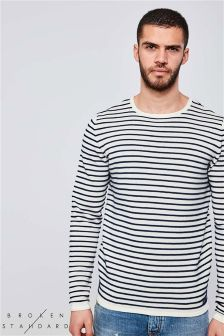 Broken Standard Striped Bagel Neck Jumper