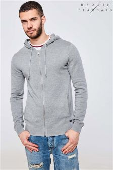 Broken Standard Knitted Zip Through Hoodie