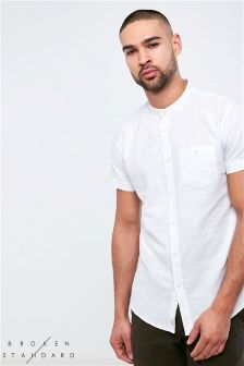 Broken Standard Short Sleeve Linen Shirt