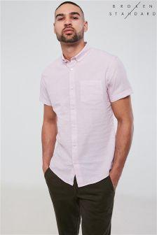 Broken Standard Linen Blend Shirt