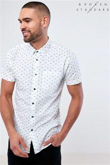 Broken Standard Printed Short Sleeve Shirt