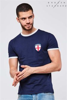 Broken Standard England Short Sleeve Football T-Shirt