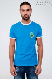 T-shirt de football Broken Standard Brazil à manches courtes