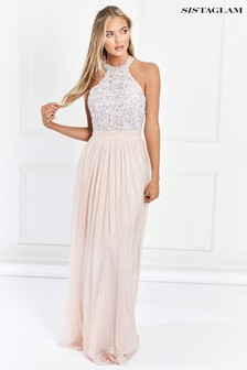 Sistaglam Sequin Maxi Dress