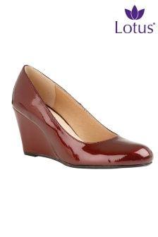 Lotus Wedge Court Shoe