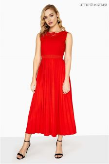 Little Mistress Pleated Hem Dress