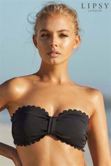 Lipsy Scallop Bikini Top
