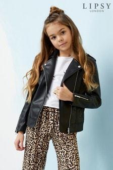 Lipsy Girl PU Biker Jacket