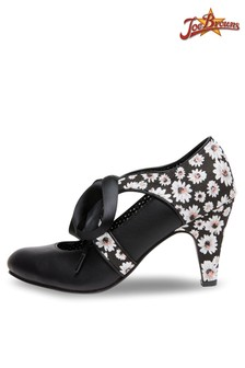 Joe Browns Ribbon Tie Shoes With Daisy Print
