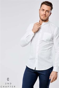 2nd Chapter Linen Blend Long Sleeve Shirt