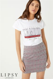 Lipsy Check Mini Skirt