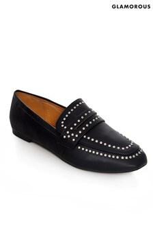 Glamorous Studded Loafer Shoe