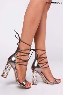 Glamorous Tie Up Heels