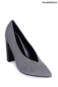 Glamorous Check Court Shoes