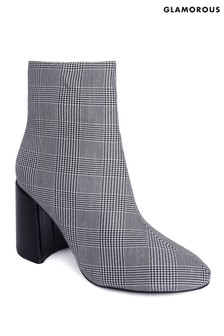 Glamorous Check Ankle Boots