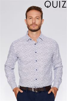 Quizman X Towie  Man Slim Fit Stretch Shirt