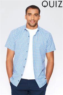 Quizman X Towie  Man Gingham Shirt