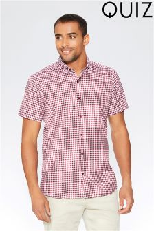 Quiz Man Gingham Check Shirt