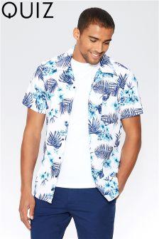 Quizman X Towie Man Slim Fit Floral Print Shirt
