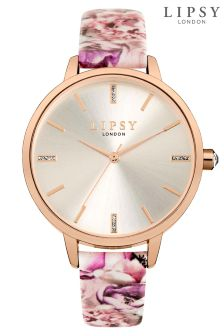Lipsy Floral Strap Watch