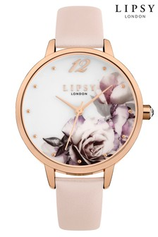 Lipsy Leather Floral Watch