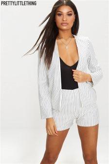 PrettyLittleThing Stripe Crepe Blazer