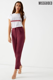 Missguided Pleat Front Cigarette Trousers