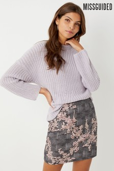 Missguided Jacquard Mini Skirt