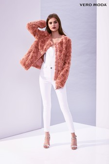 Vero Moda Short Faux Fur Curl Jacket