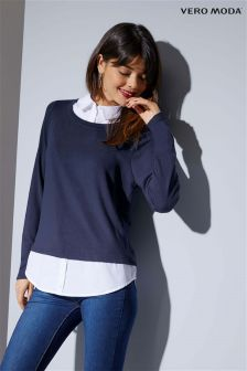 Vero Moda Long Sleeve O-Neck Shirt Blouse