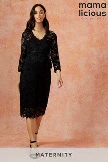 Mamalicious Maternity Kleid aus Jersey und Spitze