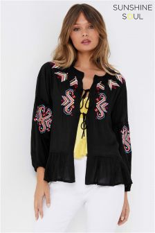 Sunshine Soul Embroidered Cardigan