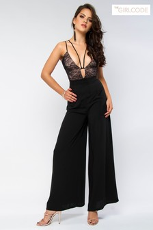 The Girlcode Lace Wide Leg Jumpsuit