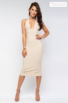The Girl Code Bodycon Midi Dress