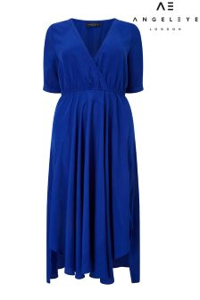 Angeleye Curve Midi Wrap Dress