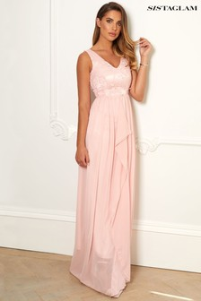 Sistaglam V neck Maxi Dress