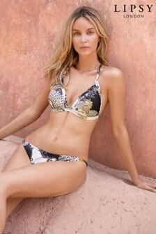 Lipsy Scarf Print Bikini Top